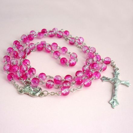 Rosary Beads for Children in Pink